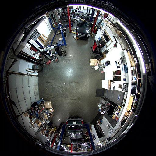 نمونه تصویر دوربین فیش آی Fisheye