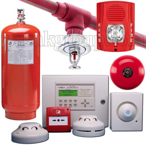 سیستم اعلام حریق و سیستم اطفاء حریق قیمت سیستم اعلام حریق اتوماتیک متعارف آدرس پذیر گازی