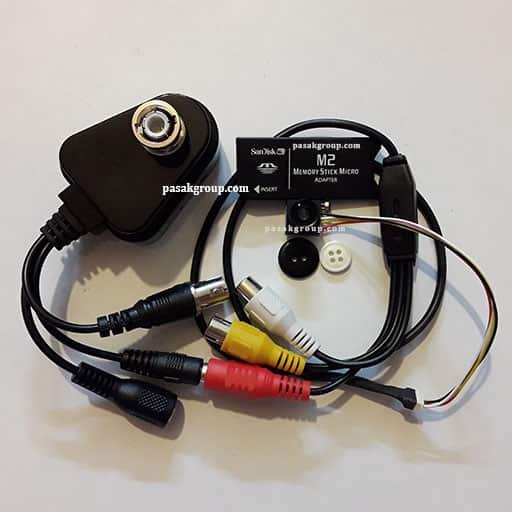 میکرو دوربین دکمه ای ریز به همراه کوچکترین دستگاه دی وی آر ضبط تصاویر دوربین مداربسته